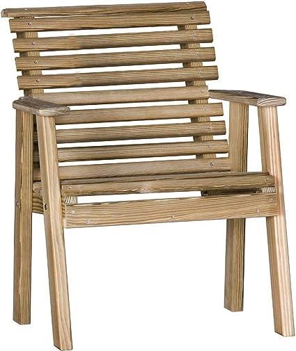 Fine Amazon Com Luxcraft Pressure Treated Wood 2 Plain Bench Machost Co Dining Chair Design Ideas Machostcouk