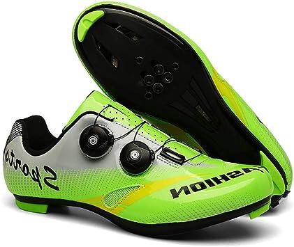 YZJYB 1 Par Zapatillas De Bicicleta De Carretera De Carreras Profesionales Zapatillas De Ciclismo De Deporte Al Aire Libre con Sistema De Bloqueo: Amazon.es: Deportes y aire libre