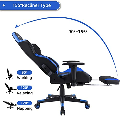 Best computer gaming chair: BERLMAN Gaming Chair Racing Office Computer Chair Ergonomic Video Game Chair Backrest and Seat Height Adjustable Swivel Recliner