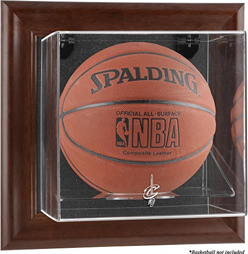 Sports Memorabilia Cleveland Cavaliers Brown Framed Wall-Mounted Team Logo Basketball Display Case - Basketball Logo Display Cases