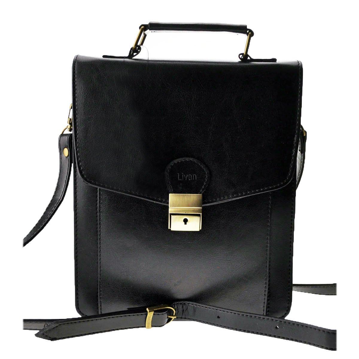 LIVAN -L0021- Sacoche à bandoulière sac à main homme Noir