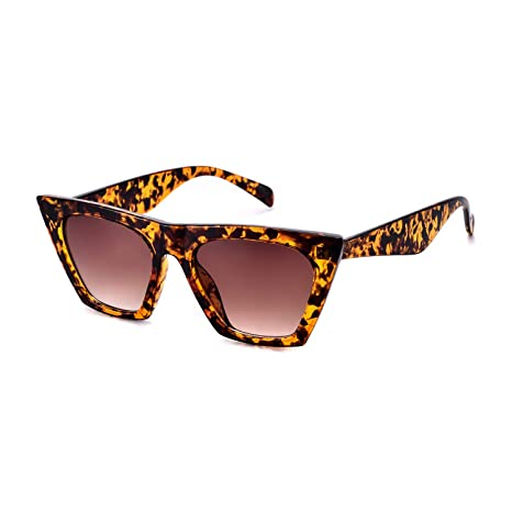 b177fb4fc1 Amazon.com  Mosanana Retro Vintage Square Cateye Sunglasses for Women Small  Chic Tortoise Demi Havanna Mod Sharp Pointed Pointy Designer Inspired Tip  Cat ...