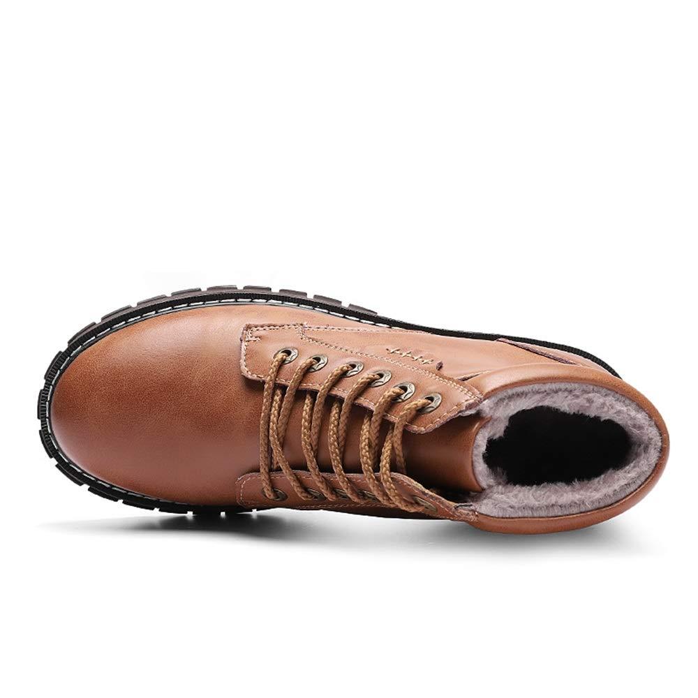 2018 Neue Kommende Stiefel, Ankle Ankle Ankle Work Stiefel für Herren, Casual Classic Allzweck-Runde Zehe Winter Faux Fleece Inside High Top Stiefel (Farbe   Braun, Größe   40 EU) 728c3f