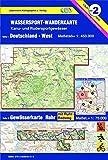Wassersport-Wanderkarte / Deutschland-West mit Gewässerkarte Ruhr: Kanu-und Rudersportgewässer / Maßstab 1: 450 000, Ruhr: 1: 75 000