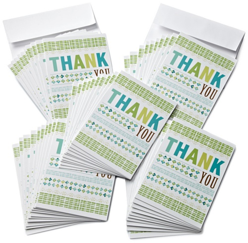 Amazon.com $10 Gift Cards, Pack of 50 with Greeting Cards (Thank You Design)