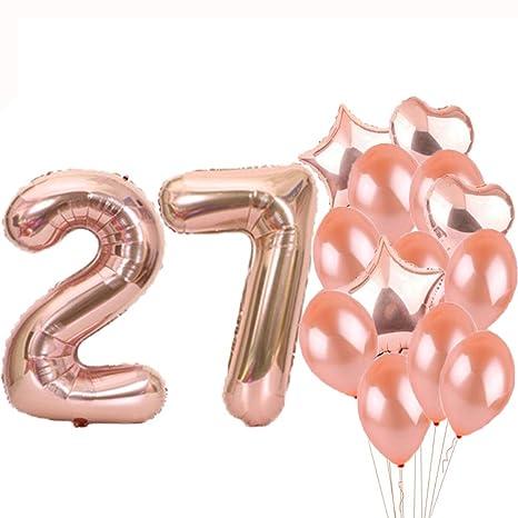Amazon.com: Sweet 27th cumpleaños decoraciones suministros ...