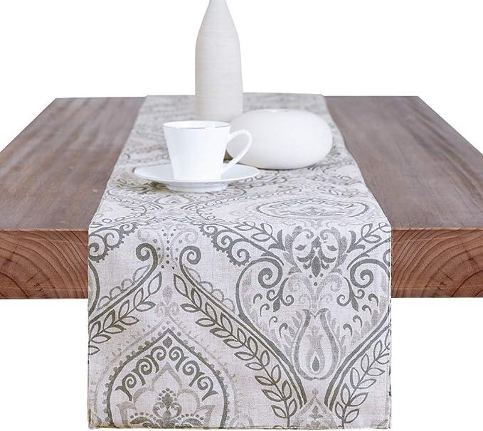 """Cuisine SAGE élégante 13/"""" X 72/"""" En lin rouge look Table Runner 33 cm x 183 cm"""