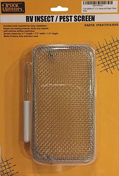 ABN RV Furnace Vent Cover Replacement /& Installation Tool 4.1in x 7.5in x 1.3in Camper Trailer Bug Insect Screen