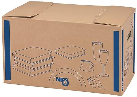 Nips 118191122 - Scatola da trasloco per libri/stoviglie, in cartone ...