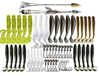 Alabama Umbrella Rig Kit 5 Arms 3 Arms Swim Baits Lures for Bass Fishing Bass Lures Bait Kit,for Saltwater Freshwater Bass Trout Salmon