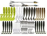 #6: Alabama Umbrella Rig Kit 5 Arms 3 Arms Swim Baits Lures for Bass Fishing Bass Lures Bait Kit,for Saltwater Freshwater Bass Trout Salmon