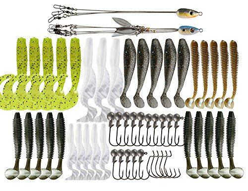 Ilure Alabama Rig Umbrella Kit with 5 arm 3 for Salwater Stripers Bass Fishing Lure Swim Bait