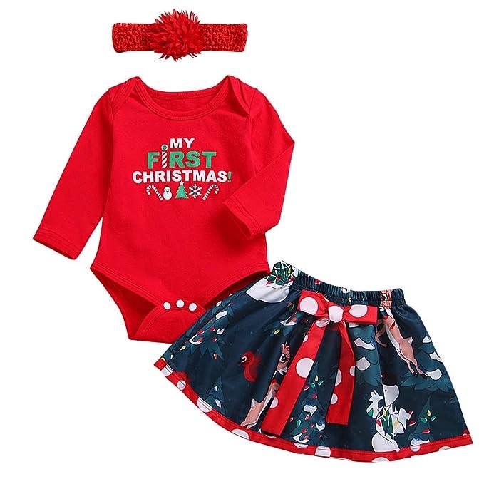 Amazon.com: Conjunto de 3 piezas de ropa de Navidad para ...