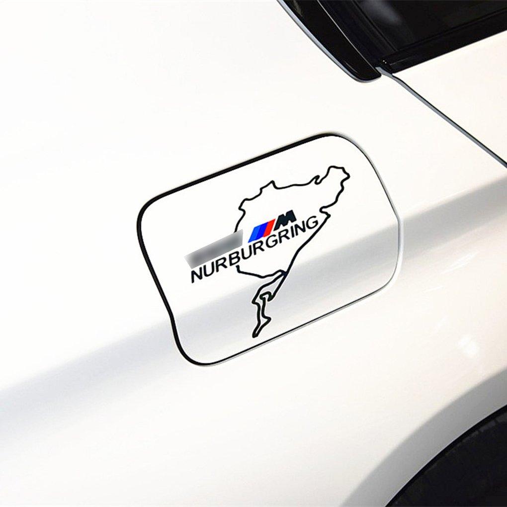 BeIilan Cubierta de la Tapa decoraci/ón del Coche M Performance Adhesivos de Gas del Tanque de Combustible de la Ventana de Cristal Pegatina Pegatinas de Puerta para BMW