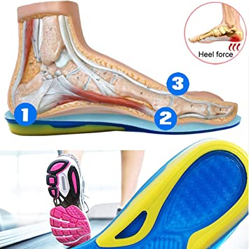 TLEOXS Zapatillas de Deporte de Gran tamaño Zapatillas Deportivas para Correr Plantilla Zapato Suela Gel de Silicona Protector Suave para talón elástico Plantillas para Zapatos: Amazon.es: Deportes y aire libre