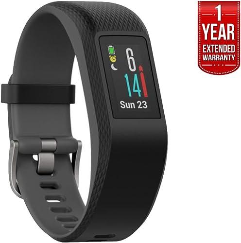 Garmin Vivosport Smart Activity Tracker Buil-in GPS Slate, L 010-01789-12 1 Year Extended Warranty