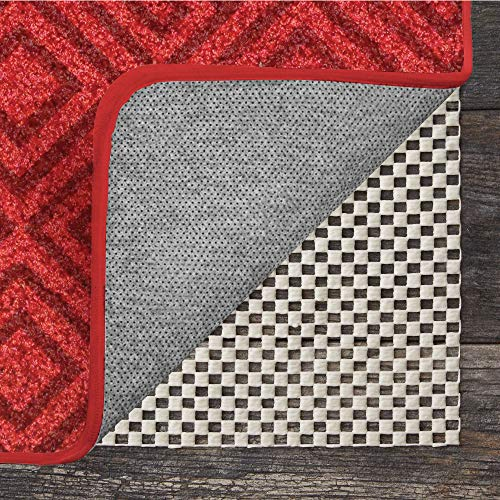 GRIP MASTER 2X Extra Thick Area Rug Cushioned Gripper Pad (8' x 10') for Hard Surface Floors, Maximum Gripper and Cushion for Under Rugs, Premium Protection Pads in Many Sizes, Rectangular ()
