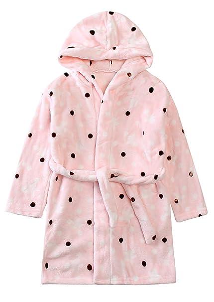 Aivtalk - Bebés Niños Niñas Albornoz de Baño Pijama Super Suave de Franela con Capucha Estampado