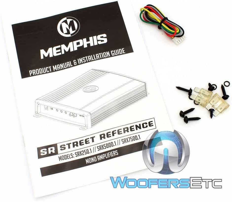 Memphis Audio SRX750D.1 750w RMS @ 2 Ohm Mono Car Amplifier Amp