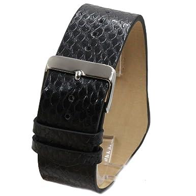 Amazon.com: Alexis Mujer Reloj Japón Seiko PC21 Movimiento Negro Correa Cuero Genuino Negro Marcar Impermeable 1000A: Watches