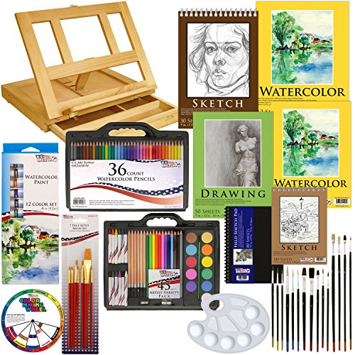art supply table - 9