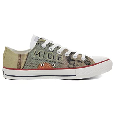 Converse Original CUSTOMIZED with printed Italian style (handmade shoes) Slim Vecchio Conio