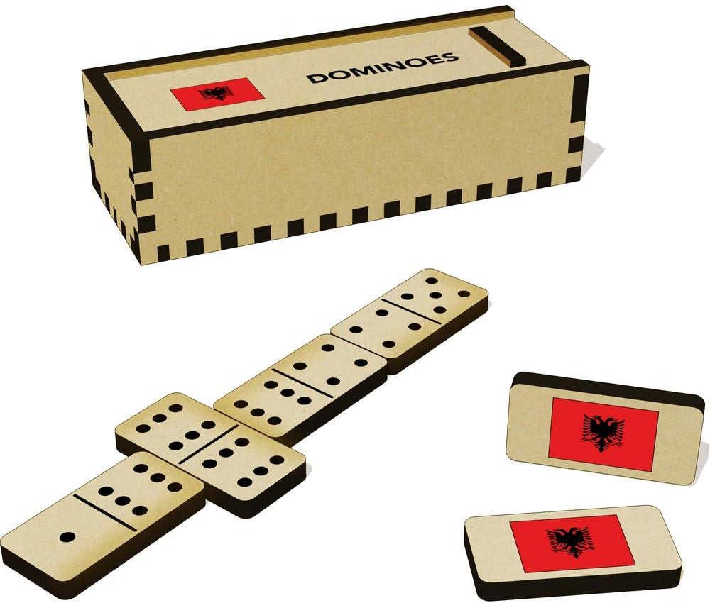 /'Albania Flag/' Domino Set /& Box DM00020533