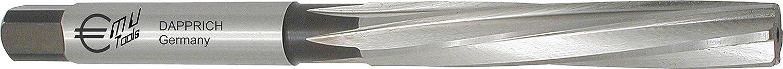 HSS Hand Reibahle, DIN 206 B, Profi Ausführung, spiralgenutet, mit Zylinderschaft und Vierkant DIN 10: Ø 8,6 mm H7 DAPPRICH
