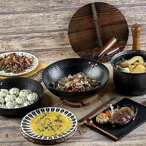 Maison Pan fer ensemble pan pan style ancien ensemble de trois pièces Convient for cuisinière à gaz cuisinière à induction