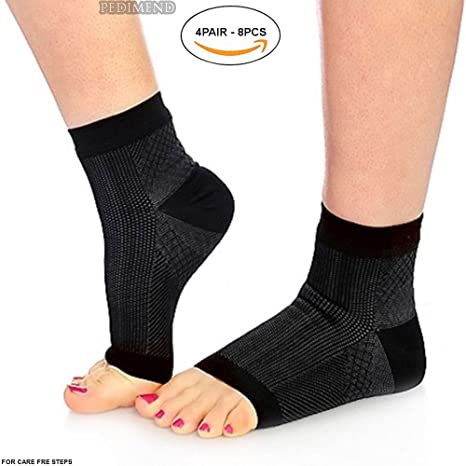 allevia il dolore velocemente supporto per caviglia calze a compressione 2 paia di calzini per fascite plantare con supporto per l/'arco plantare allevia il gonfiore e la spina calcaneare