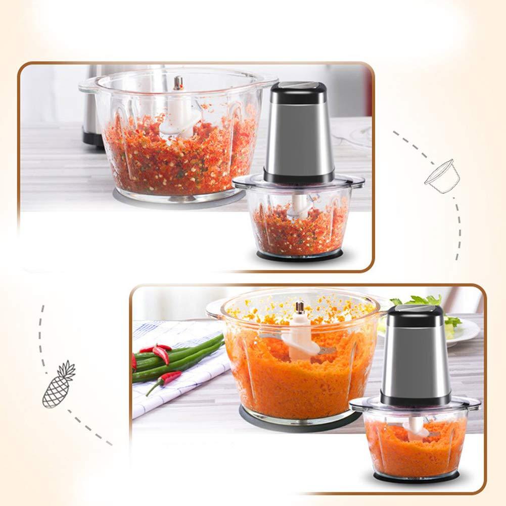 ZDYLM-Y Picadora de Carne Eléctrica Hogar Eléctrica Durable Acero Inoxidable Mini Multifuncional La Cocina Picador de Alimentos, Adecuado para Alimentos ...