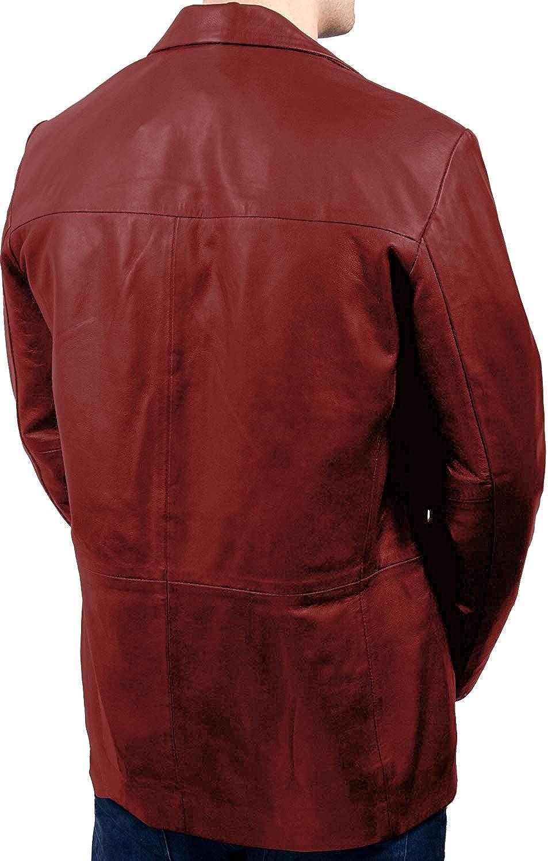 Laverapelle Mens Genuine Lambskin Leather Jacket Black, Officer Jacket 1501831