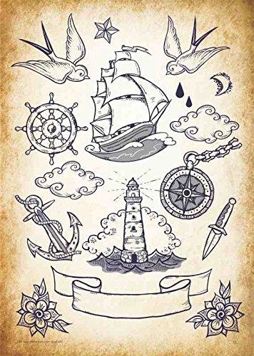 31 Grossartig Old School Tattoo Vorlagen 11