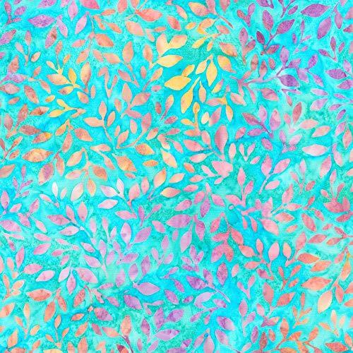 Robert Kaufman Serendipity Artisan Batiks Aqua Floating Blooms
