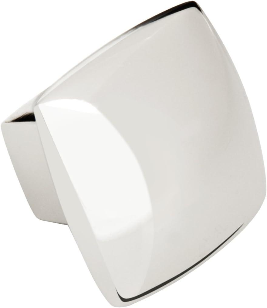 Symmetry Square Knob - Polished Nickel