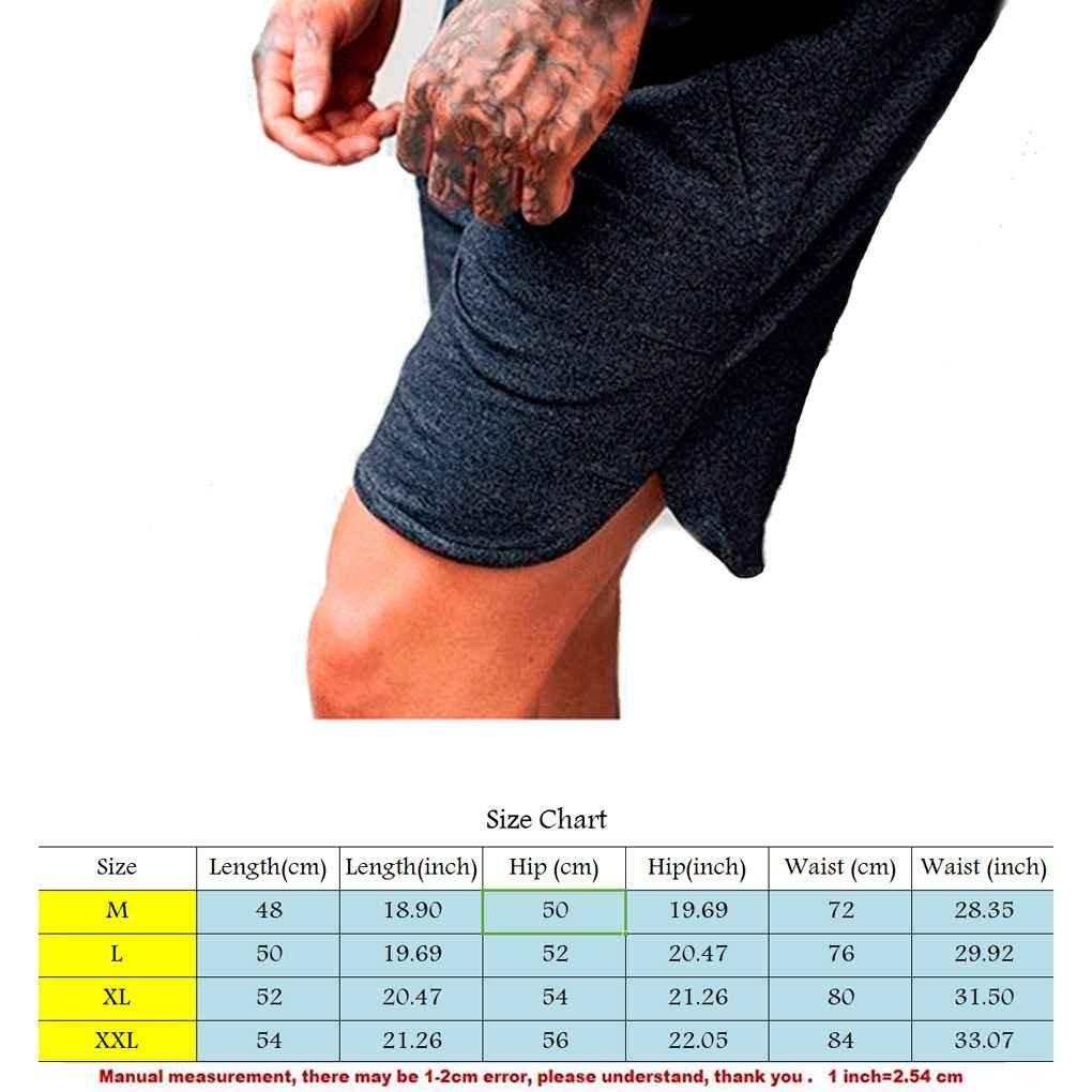 Mengonee Traspirante allentati di sport degli uomini Pantaloncini da corsa Bodybuilding polpaccio Cinque pantaloni di scarsità Fitness Palestre Pantaloni