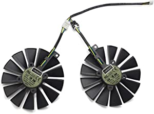 inRobert 95mm T129215SM 12V 0.25AMP Graphics Card Cooling Fan For ASUS STRIX-RX470-O4G-GAMING RX580 GTX1050Ti (1 pair)