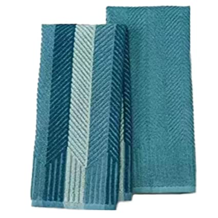 Amazon Com Food Network 2 Pk Sculpted Antimicrobial Kitchen Towels