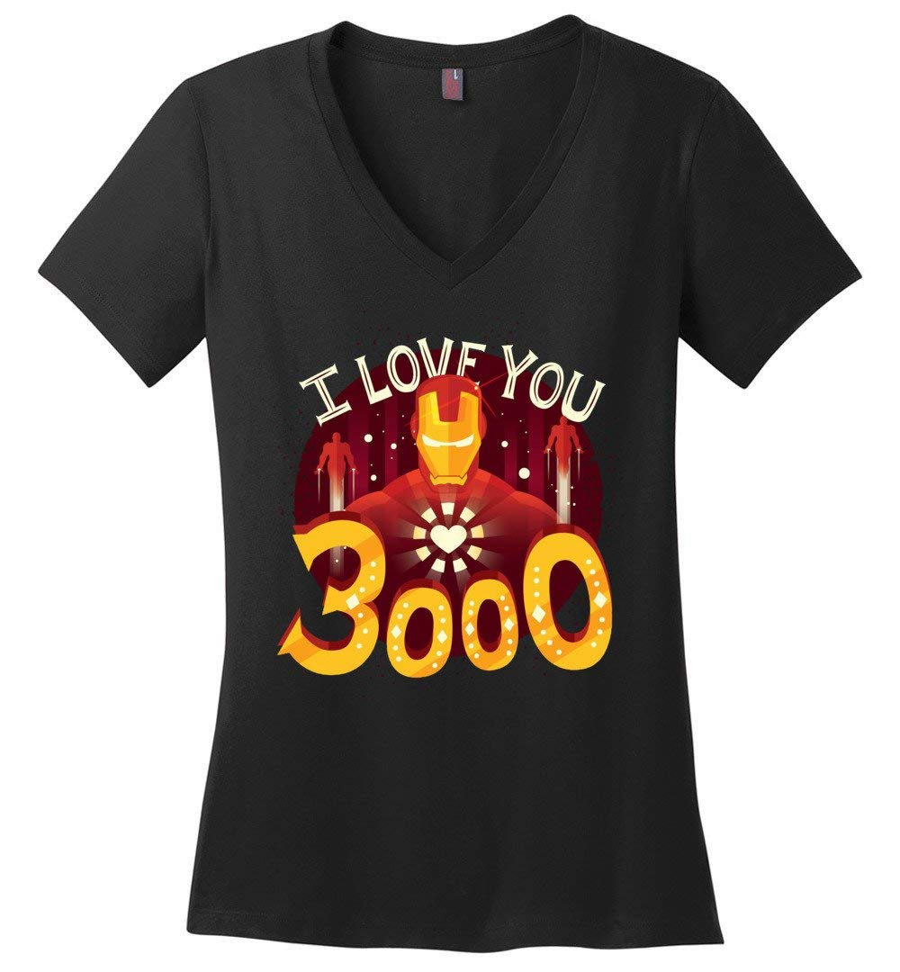 I Love You 3000 Iron For Fan Vneck Shirts