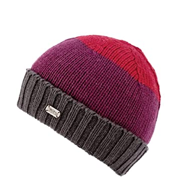 66658fa29af6ec Kusan 100% Merino Wool Versatile Pull-on Beanie and Floppy Hat 2in1 PK1827  Red/Purple: Amazon.co.uk: Clothing