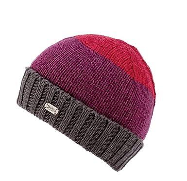 bca4171fd73ca7 Kusan 100% Merino Wool Versatile Pull-on Beanie and Floppy Hat 2in1 PK1827  Red/Purple: Amazon.co.uk: Clothing