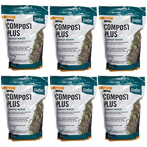 Safer 3050-6 Brand 2 lb. Compost Plus-6 Pack Ringer, Green
