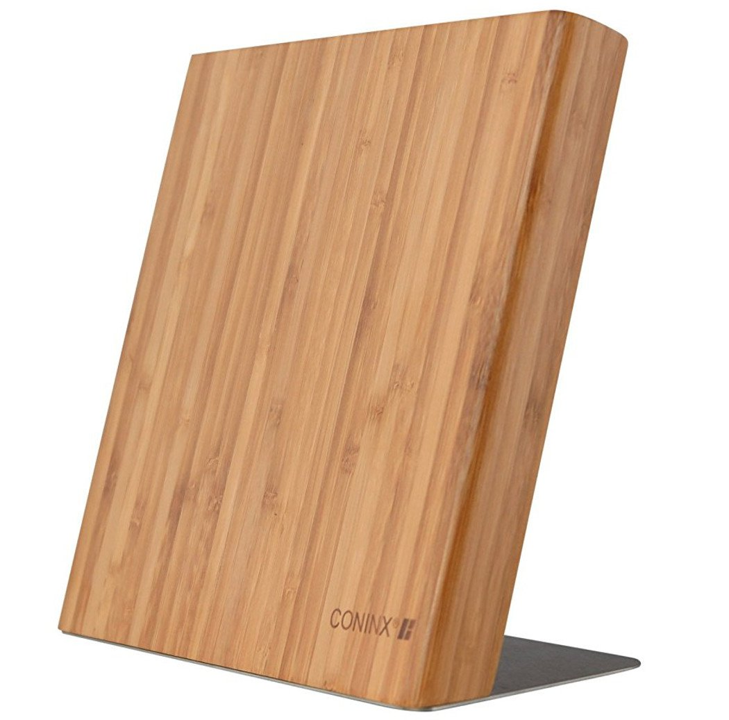 Magnetic Bamboo Knife Block/Holder by Coninx (Knives Not Included) - For Safe, Clean and Tidy Storage of Knife - Magnetic Knife Board