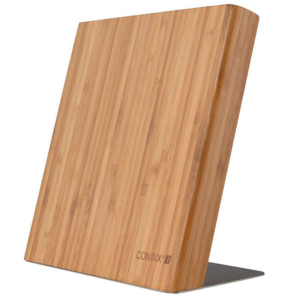 Bloc de couteaux magnétiques vide / lot de couteaux Quin/ Range Couteaux Coninx/ Bloc à couteaux bambou/ Bloc couteaux brun clair/ ensemble de couteaux 23 x 20 x 12 cm product image