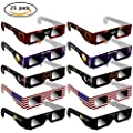 2017 Solar Eclipse Glasses - CE Certified Safe Shades for Direct safe Sun Viewing - Eye Protection US Flag Style by Beautymei