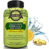 NATURELO Premium Fish Oil Supplement - 1100mg Triglyceride Omega-3 Per Capsule - One A Day - Best For Heart, Eye, Brain & Joint Health - No Burps - Natural Lemon Flavor - 120 Softgels | 4 Month Supply