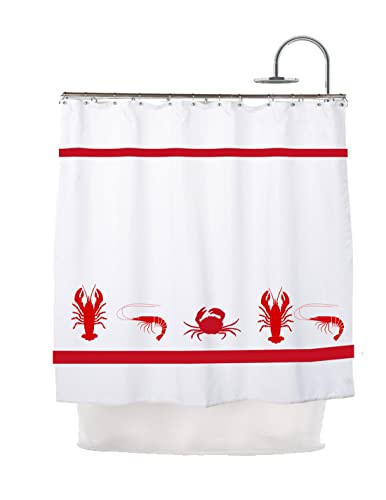 Crab Lobster Shrimp Mix And Match Shower Curtain