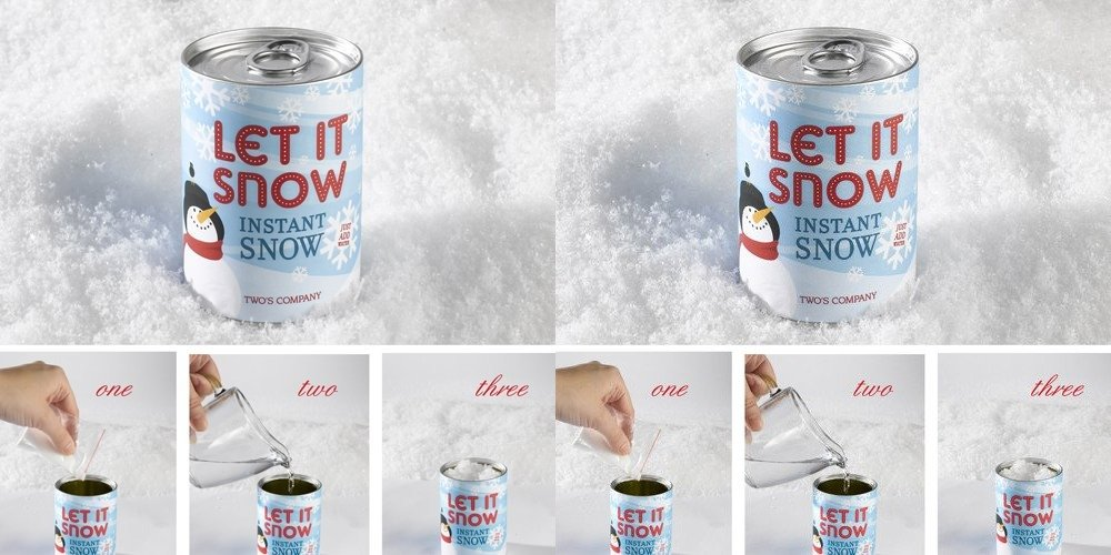 Two's Company Instant Magic Snow in Can - Set of 2