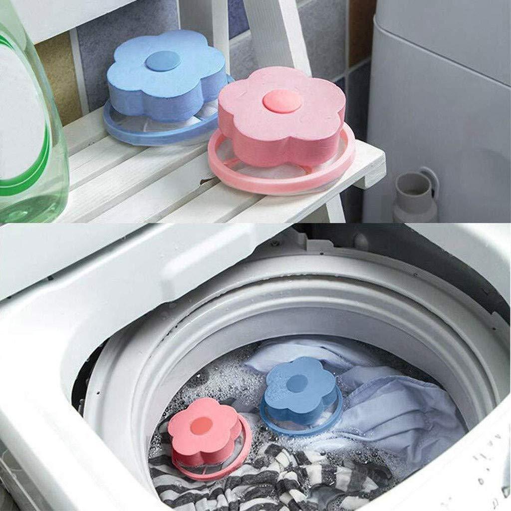 8 Unidades Firally Filtro Flotante de Malla para Quitar el Pelo para Limpiar la Bola de Lavadora Bolsa de Filtro para Lavadora Reutilizable