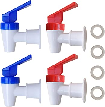 Amazon Com Replacement Cooler Faucet 2 Blue And 2 Red Water Dispenser Tap Set Internal Thread Plastic Spigot Home Improvement